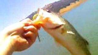 Bass fishing at Anderson resevoir