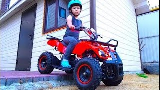 Funny Baby Unboxing And Assembling The POWER Wheel Ride on Tractor  # 58