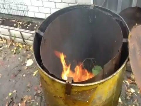 Мусоросжигательная печь на дачу своими руками6