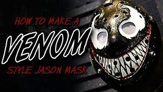 """How to Make a """"Venom"""" Style Jason Mask - Friday The 13th DIY"""
