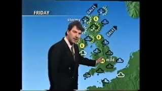 BBC Weather 13th January 1993 with  John Kettley