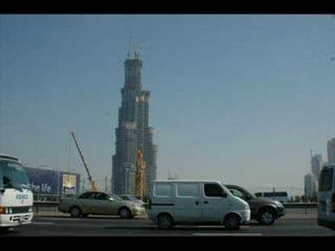 The Burj Dubai under construction Video