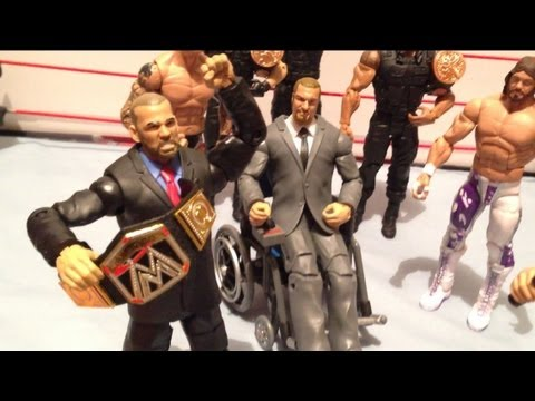 GTS WRESTLING: Explosive steel cage match! WWE Mattel action figure matches animation