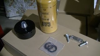 CAT Fuel Filter Adaptor for my 02 Duramax and Viton O-ring Install
