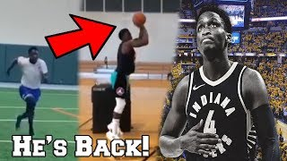 Victor Oladipo Debuts NEW DOUBLE STEPBACK JUMP SHOT IN AN INCREDIBLE POST INJURY WORKOUT!