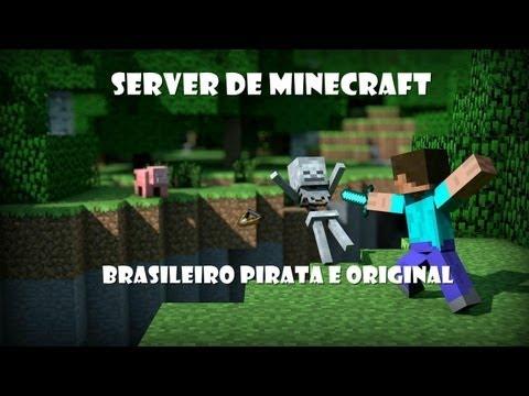 server de minecraft 1.6.4 Brasileiro pirata e original