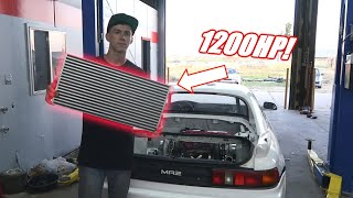 New 1200Hp Intercooler Core For The Twin Turbo Mr2!