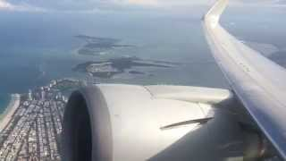 American Airlines Boeing 767-300 Departs Miami to BCN