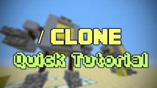 Minecraft (Quick) Tutorial - How to use the /Clone command :: /Clone command tutorial