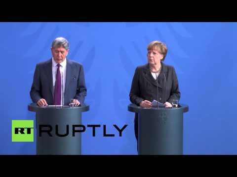 Germany: Merkel and Atambayev promote a