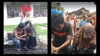 Kepergok Mesum Pasangan Remaja Di Aceh Dimandikan Warga Dengan Air Comberan