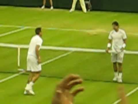 Rosol serving for the match against Nadal