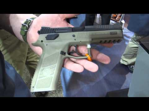 CZ P-09 full-size polymer 9mm semi-auto pistol at SHOT Show 2014