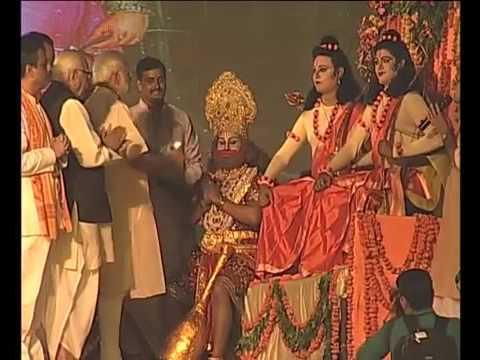 PM Narendra Modi performs 'Pujan & Arti' at Dussehra Mahotsav at Aishbagh Ramleela Maidan in Lucknow