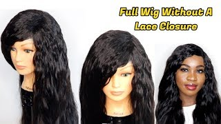 HOW TO MAKE A WIG WITHOUT CLOSURE   FULL SEW IN WIG   Hot Glue Method