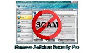 Remove Antivirus Security Pro