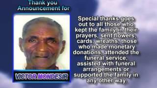 Victor Mondesir Thank You