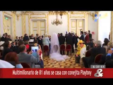 Multimillonario de 81 años se casa con conejita Playboy
