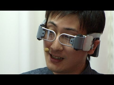 docomo Hands-Free Videophone for futuristic glasses-type HMD devices #DigInfo