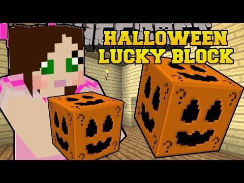 Minecraft: HALLOWEEN LUCKY BLOCK (HUGE STRUCTURES, SLENDERMAN, & MORE!) Mod Showcase