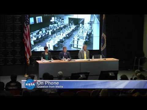 NASA held a news conference Tuesday October 28 following the mishap that occurred at NASA's Wallops Flight Facility in Virginia during the attempted launch of Orbital Sciences Corp's Antares...