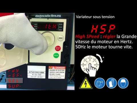 Utilisation variateur de vitesse Altivar ATV312