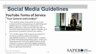 Can I Do That Online? Copyright Law and Online Posting