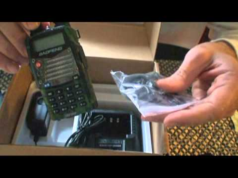Baofeng UV-5RA+ HAM radio Opening box