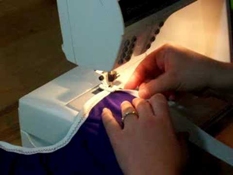 Cloth Diaper Sewing: Fold Over Elastic On A Diaper Cover. 2