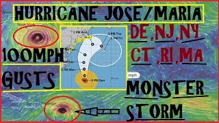 Hurricane JOSE MARIA UPDATE! Warnings issued for Jose, MARIA Growing FAST!
