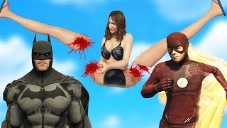 BATMAN + THE FLASH BRUTAL KILL SPREE! (GTA 5 Mods Funny Moments)
