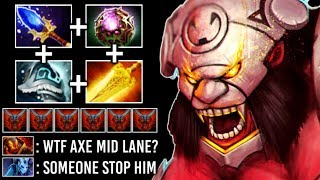 NEW CRAZY META MID Axe DELETE Riki Ember +220 DPS Hunger -30% DMG Reduction Epic Game 7.22 Dota 2
