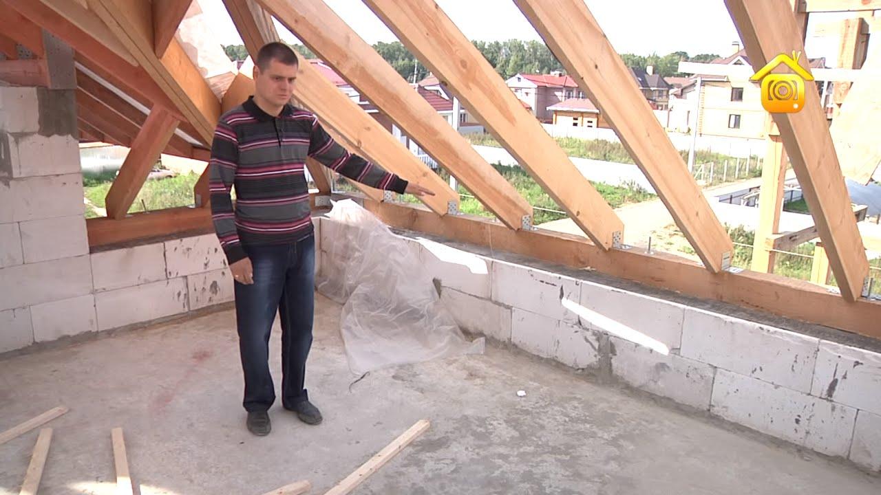 Через вальмовая крыша на приподнятых стенах Увольнение