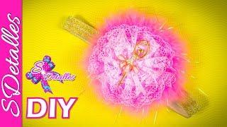 Cintillo o Diadema con Flor de Encaje / Lace & Ribbon Flower Headband | Video# 37 | SDetalles | DIY