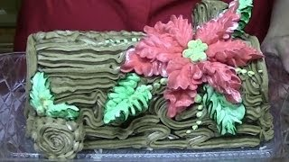 Poinsettia, Yule Log Cake, How to Decorate, Cake Decorating, Christmas