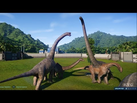 Jurassic World Evolution - All Biggest Dinosaurus Shown (PS4 HD) [1080p60FPS]