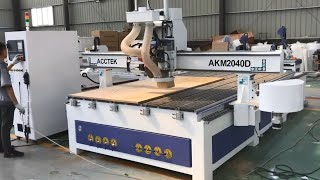 CNC ROUTER AKM2040D with cutting saw