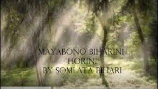 Mayabono Biharini Horini by Somlata Acharyya Chowdhury with lyrics