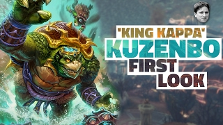 SMITE Kuzenbo Gameplay (Support) PTS First Look - King Kappa