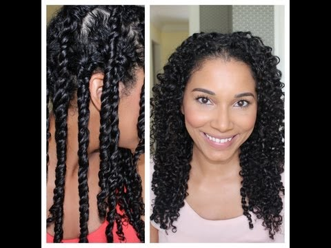 3 Strand Twist Out Demo + Results