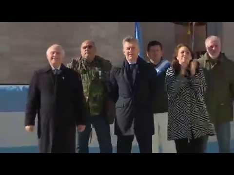 Macri encabeza en Rosario el acto por el Día de la Bandera