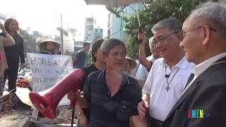 ĐGM Micae Hoàng Đức Oanh thăm và động viên dân Vườn Rau Lộc Hưng 06.01.2019