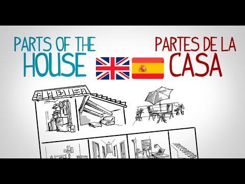 Partes De La Casa Español - Ingles, Aprender Vocabulario