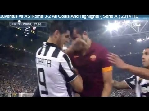 Fight : Kostas Manolas vs Alvaro Morata ~ Juventus vs AS Roma 2-2 ( Serie A ) 2014 HD