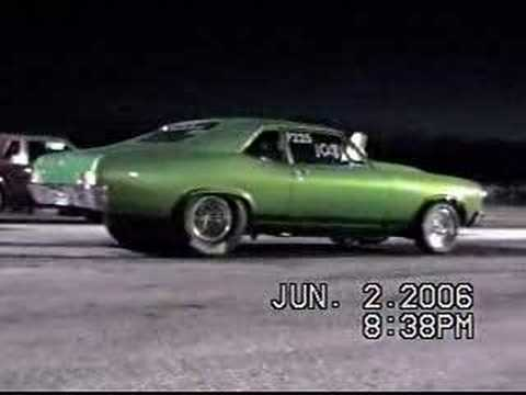 1970 Nova burnout up close Video