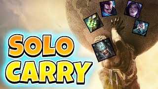 CARRYING BRONZE TEAMMATES!! CHALLENGER TRYNDAMERE GOES 1v9 - League of Legends Full Gameplay