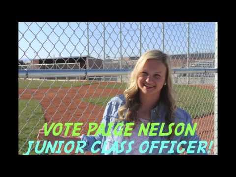Paige Nelson for CCHS Junior Class Officer 2014