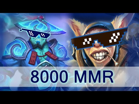 First 8000 MMR — w33 Storm Spirit and Meepo plays