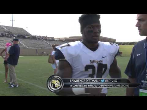 2014 Wingate Football - Limestone postgame interview with running back Lawrence Pittman