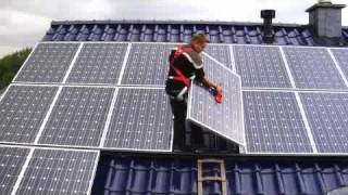 Installation of a Sharp Solar Power Plant